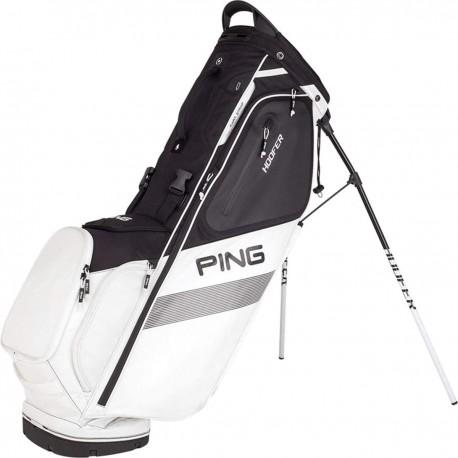 Talega de golf Ping Hoofer negra y blanca Cargar y Patitas palos de golf