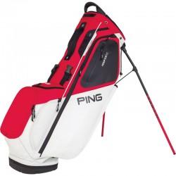 Talega de golf Ping Hoofer 14 Roja blanca y negra Cargar y Patitas