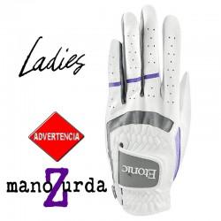 Guante de golf Etonic DAMA ZURDA M Mediano Blanco Stabilizer F1T Sport Cabretta y sintético