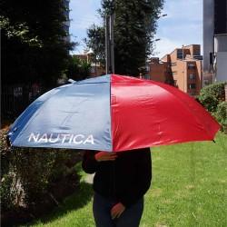 """Sombrilla de golf Náutica 68"""" 173 cm azul y roja automática doble toldo o dosel nylon"""