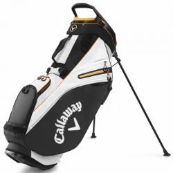 Talega de golf Callaway Mavrik 14 Negra blanca y naranja de cargar y Patitas