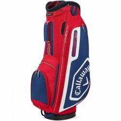 Talega de golf Callaway Chev 14 de cargar y carrito roja y azul