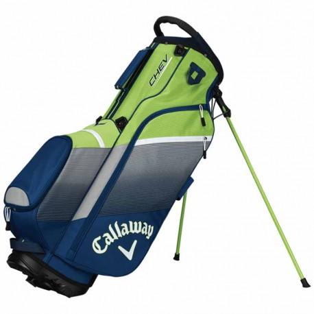 Talega de golf Callaway Chev verde gris y azul Patitas y cargar