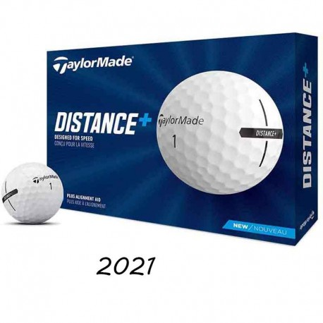 Bolas de golf TaylorMade Distance Plus (12 Unidades) blancas