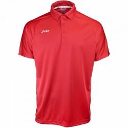 Camiseta de golf Asics S Pequeña Roja con blanco hombre Corp Polo