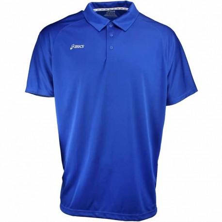 Camiseta de golf Asics S Pequeña Azul Royal con blanco hombre Corp Polo