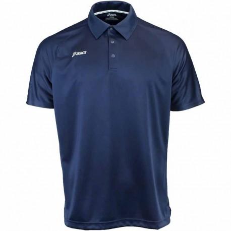 Camiseta de golf Asics S Pequeña Azul Navy con blanco hombre Corp Polo