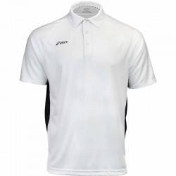 Camiseta de golf Asics S Pequeña Blanco con negro hombre Corp Polo