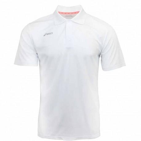 Camiseta de golf Asics L grande Blanca hombre Performance Polo