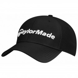 Gorra TaylorMade S/M negra performance cage fitted hat