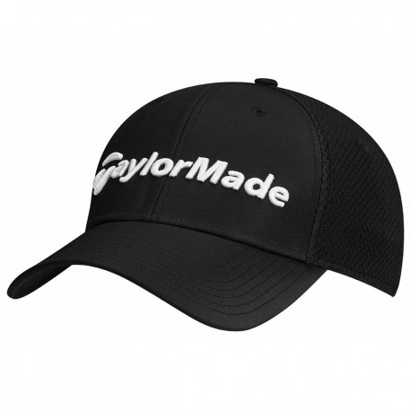 Gorra de golf TaylorMade S/M negra performance cage fitted hat