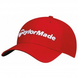 Gorra TaylorMade S/M roja performance cage fitted hat