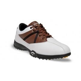 Zapatos de golf 7M Callaway Chev Comfort Blancos con Café