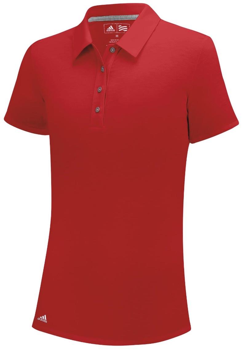 Camiseta de golf Adidas DAMA climaLite roja