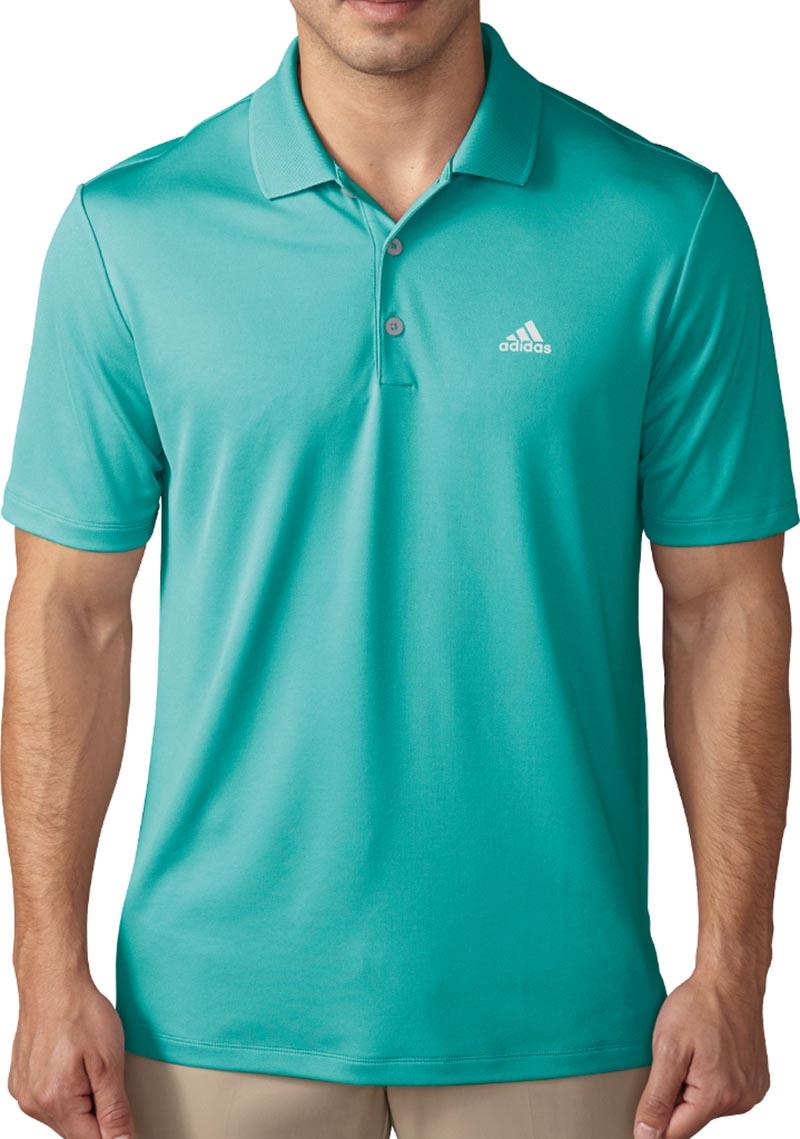 Camiseta de golf adidas verde aguamarina