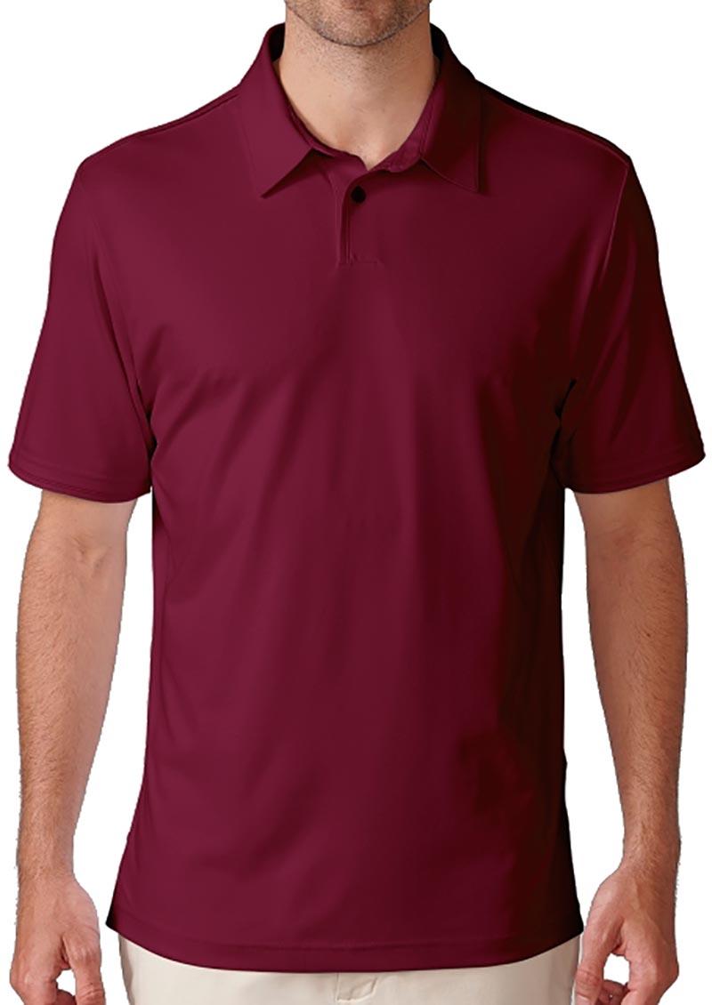 Camiseta de golf ashworth roja currant red solida