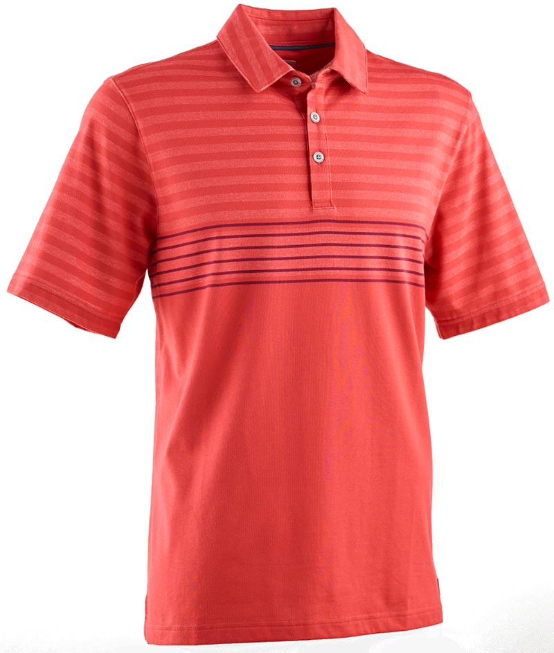Camiseta de golf ashworth roja flag red rayada