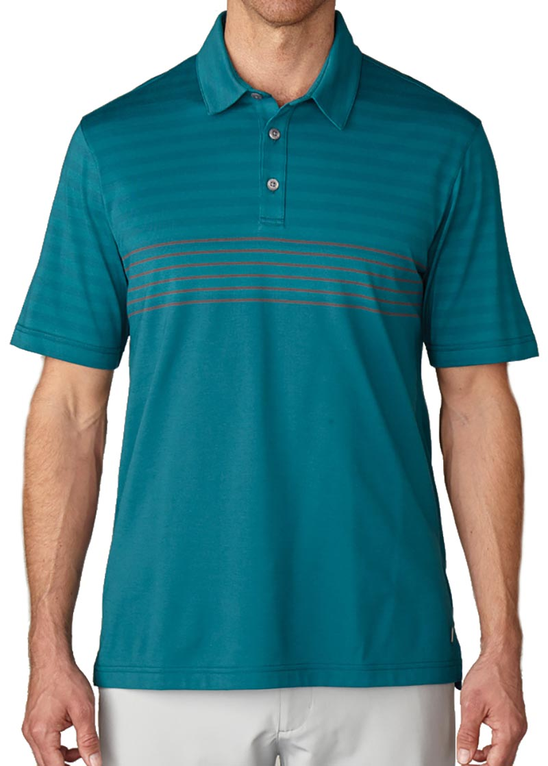 Camiseta de golf ashworth verde mariner rayada