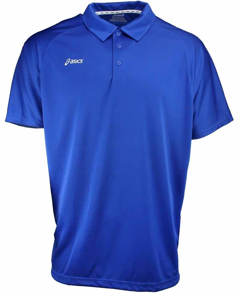 Camiseta de golf asics azul royal blanco Corp 01