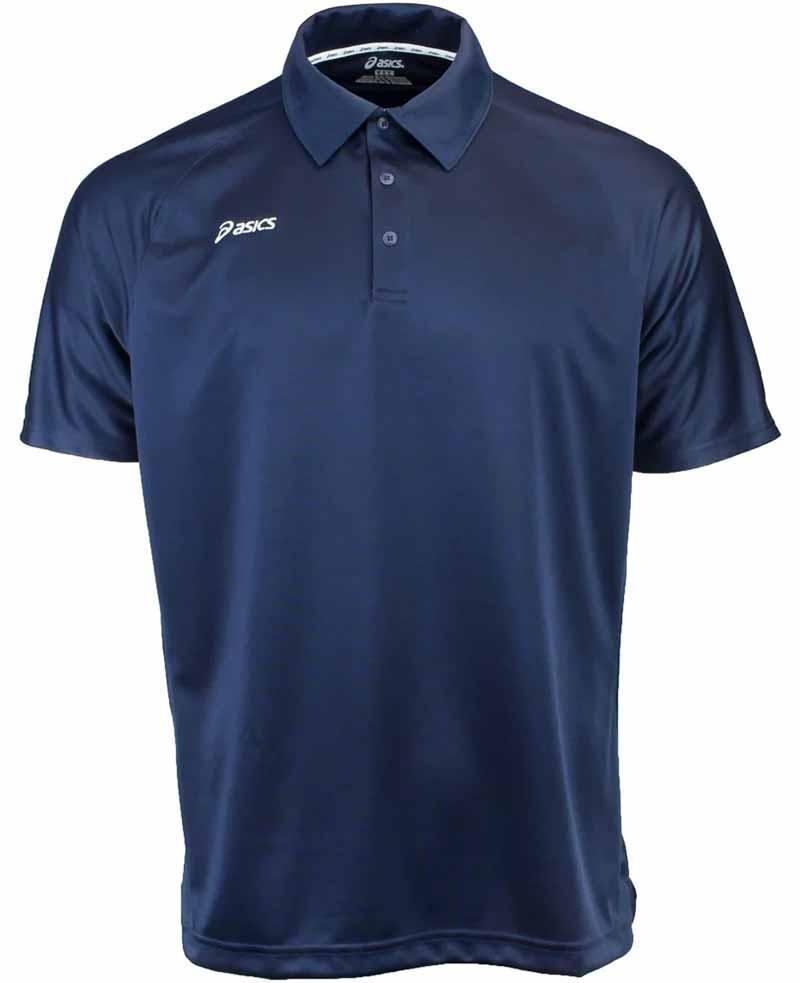 Camiseta de golf asics azul navy blanco Corp 01