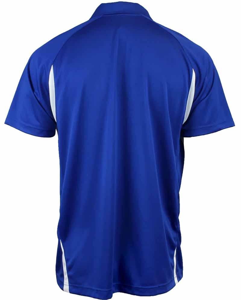 Camiseta de golf asics azul royal y blanco resolution polo 02
