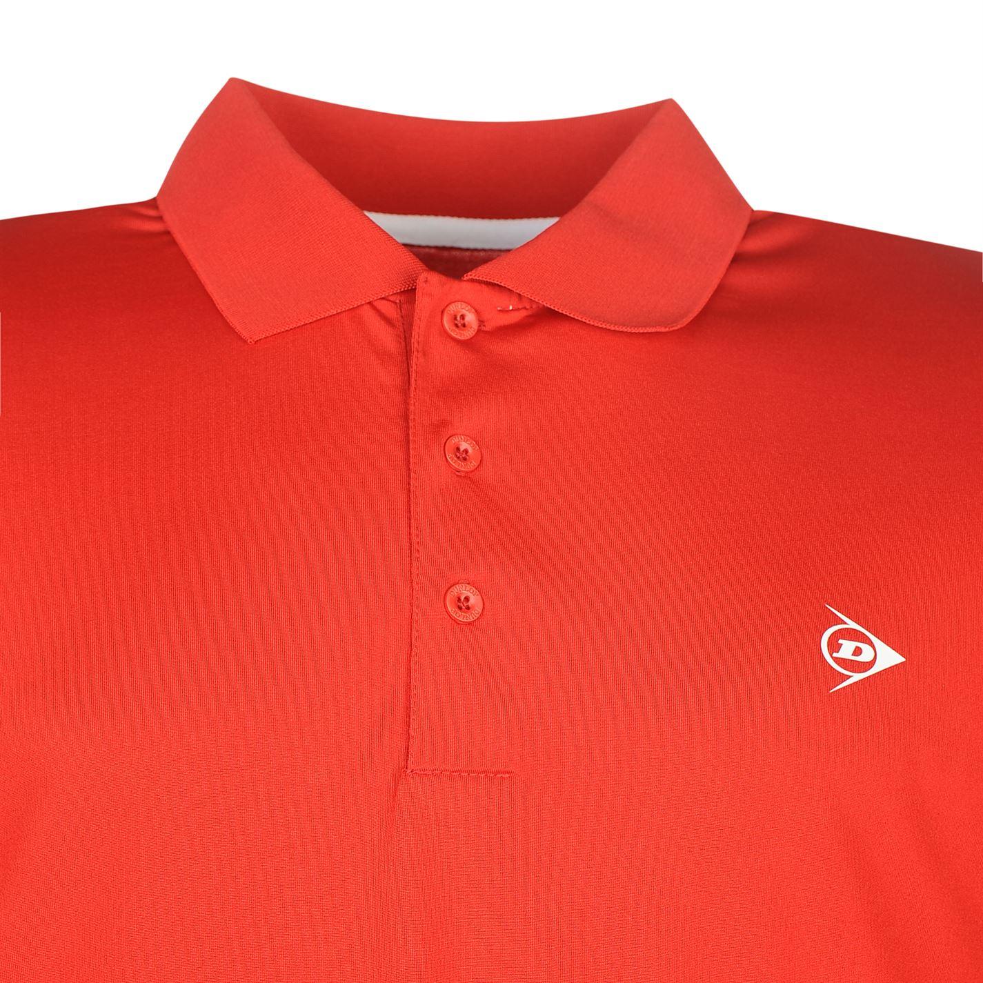 Camiseta de golf Dunlop Rojo Solar doblada