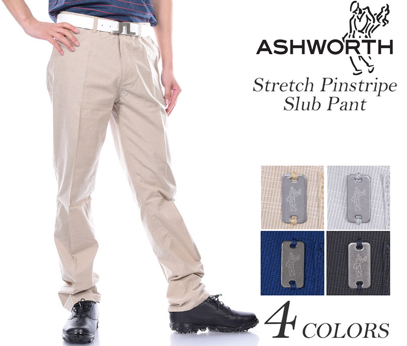 Ashworth Stretch Pinstripe Slub Pant 01