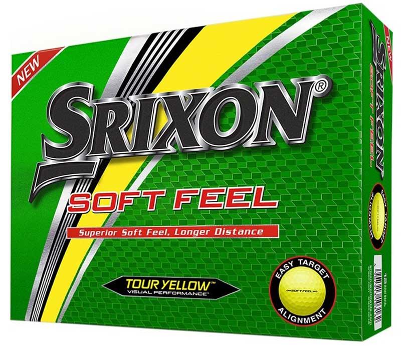 Bolas de golf Srixon soft feel amarillas en tienda de golf golfco 01