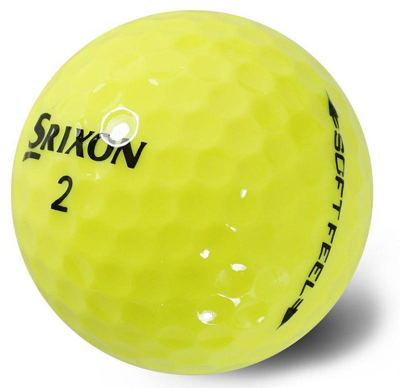 Bolas de golf Srixon soft feel amarillas en tienda de golf golfco 02