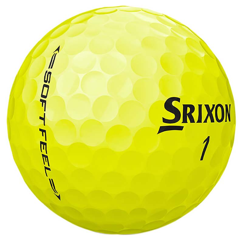 Bolas de golf Srixon soft feel amarillas en tienda de golf golfco 04