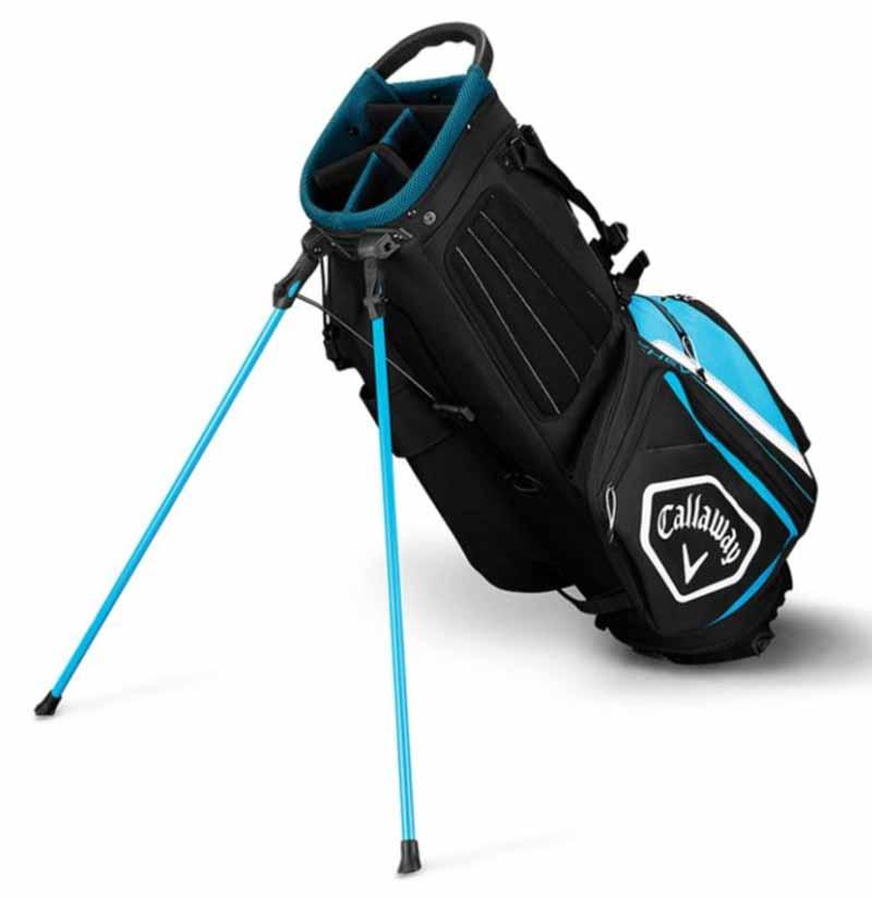 Talega de golf callaway chev azul negra y blanca 01