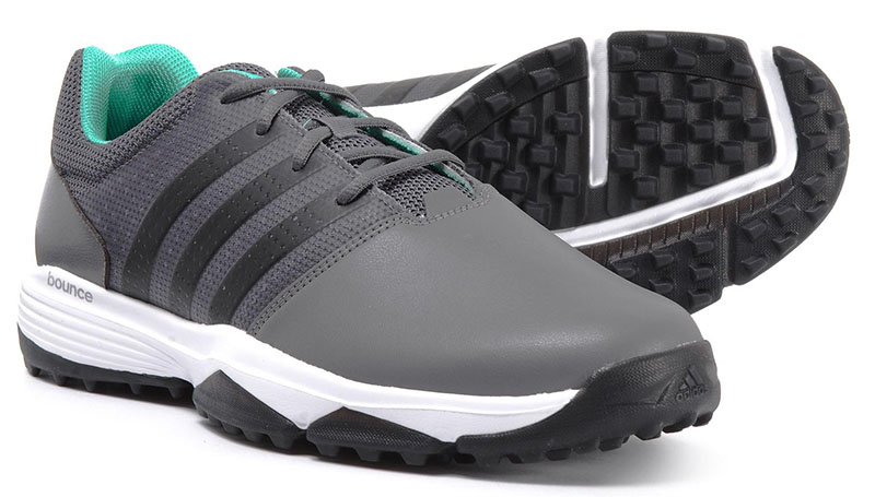 Zapatos de golf adidas 360 Traxion grises 06