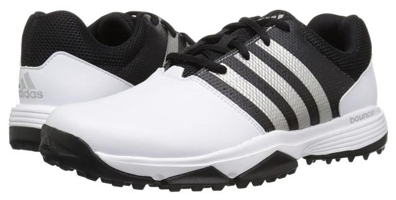 Zapatos de golf Adidas Traxion 360 Blanco negro 04