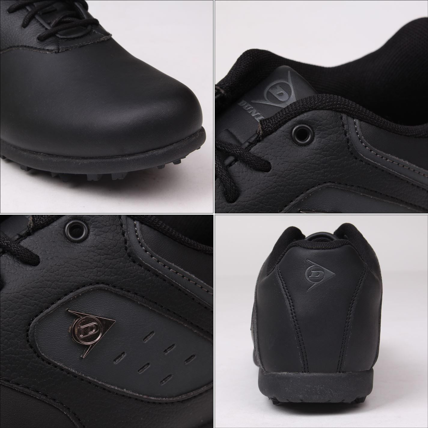Zapatos de golf Dunlop Negros Clásicos 03